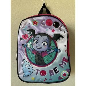 "Disney Junior Purple Vampirina Girls' Adjustable Straps Small Mini Backpack 10"""